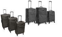 Three-Piece Luggage Trolley Travel Set in Choice of Design from AED 299 With Free Delivery (Up to 60% Off)