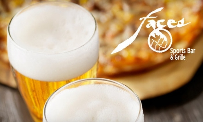 Faces on College - University: $10 for $20 Worth of Pub Fare and Drinks at Faces on College