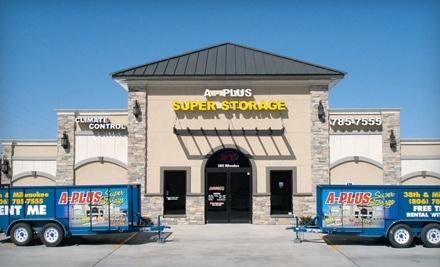 $52 Groupon to A-Plus Super Storage - A-Plus Super Storage in Lubbock