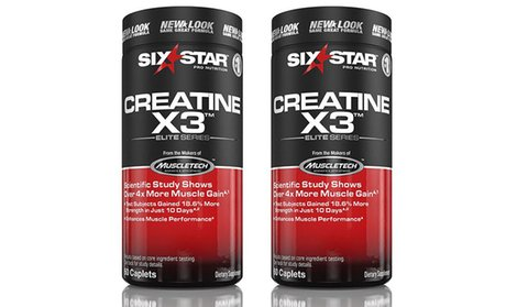 Buy 1 Get 1 Free: Six Star Creatine X3 Workout Supplement (60ct.)
