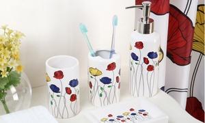 18-piece Bright Poppies Bath-in-a-box Set