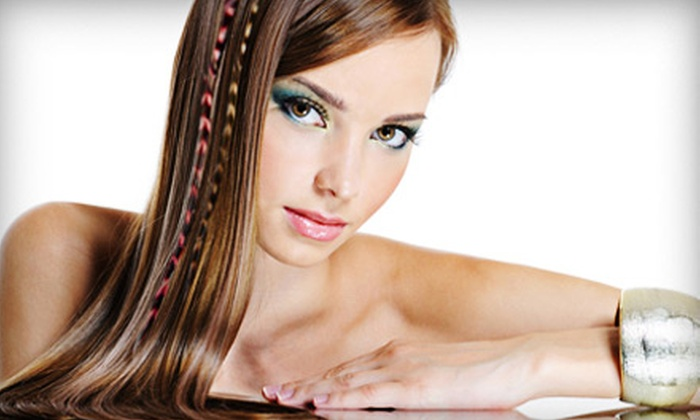 Geneva Hair Studio - Irvington: $19 for One Cluster of Three Feather Hair Extensions at Geneva Hair Studio ($45 Value)