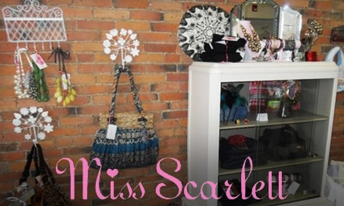 Miss Scarlett Boutique - Saratoga Springs: $25 for $50 Worth of Discount Designer Apparel at Miss Scarlett Boutique