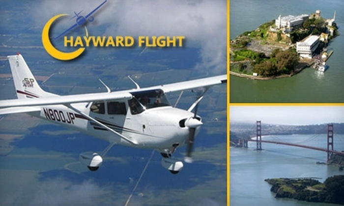 Hayward Flight - Hayward: $180 for a Private Flying Tour for Up to Three Passengers with Hayward Flight (Up to $360 Value)
