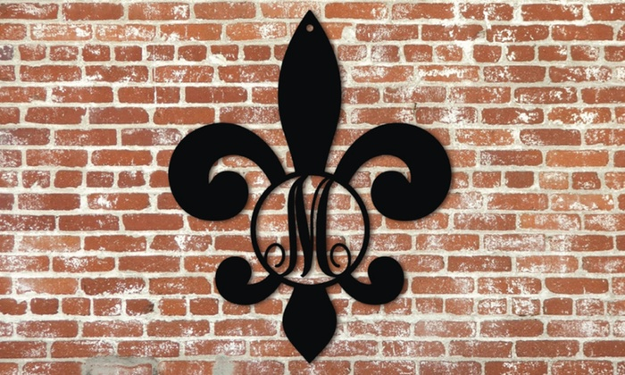 Metal Unlimited: Fleur-de-Lis Monogram Signs from Metal Unlimited (Up to 45% Off). Three Sizes Available.