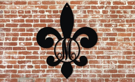 Fleur-de-Lis Monogram Signs from Metal Unlimited (Up to 45% Off). Three Sizes Available.