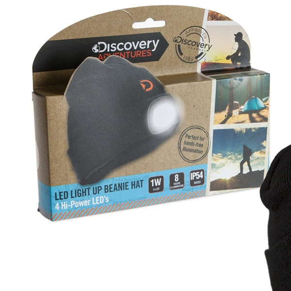 230f0199269 One or Two Discovery Adventures Adults  or Kids  LED Torch Beanies