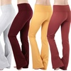 Women's Cotton-Blend Fold-Over Flare Pants (3-Pack)
