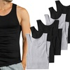 Men's Slim-Fit Ribbed Cotton Sleeveless Undershirt (6-Pack)