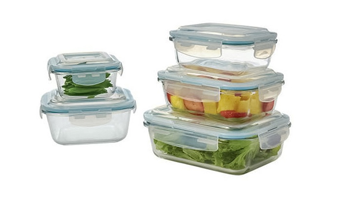 Glass Food Storage Set 10 Pc Groupon Goods
