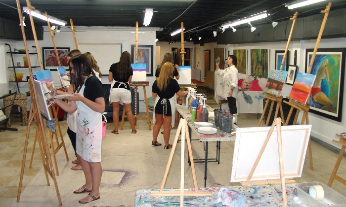 Art Village Gallery - Art Village Gallery: BYOB Painting Class for One, Two, Four, Six, or Ten at Art Village Gallery (Up to 60% Off)