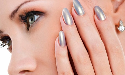 One Set of Acrylic Nails with Optional Fill-In at Finesse Salon (Up to 61% Off)