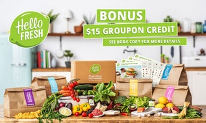 HelloFresh: HelloFresh: First or First Two Weeks Delivered Meal Kits from $29.90 + BONUS $15 Groupon Credit - New Customers Only