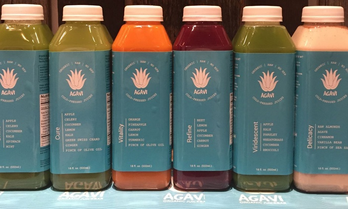 Agavi Juice - East Village: One, Two, or Three Days of the Juice Cleanse at Agavi Organic Juice Bar (Up to 59% Off)