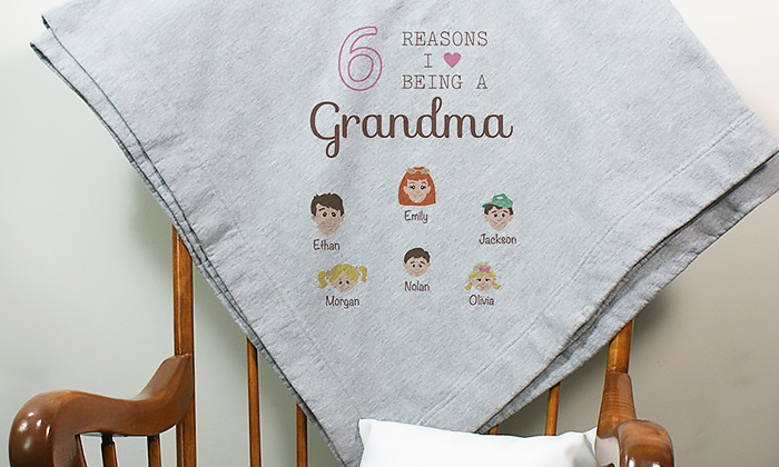 GiftsForYouNow.com: One or Two Personalized Fleece Sweatshirt Blankets from GiftsForYouNow.com (Up to 42% Off)