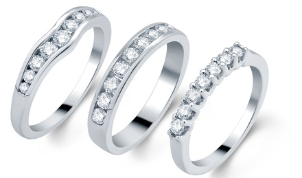 18K Gold GSL–Certified Diamond Ring Bands from $950–$1,699.99