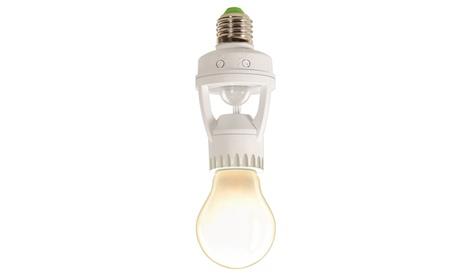 1, 2 o 3 adaptadores con sensor de presencia y regulador para bombillas y lámparas