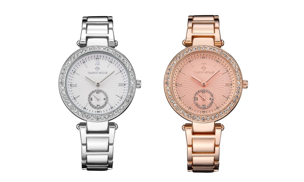 Timothy Stone Steel Womens Watch with Crystals from Swarovski®: One ($29.95) or Two ($55) (Dont Pay up to $975.49)
