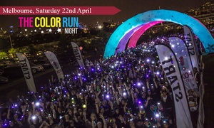 THE COLOR RUN - Melbourne Night Event: The Color Run™ Night - presented by Sportsgirl: Entry for $55 (Plus Booking Fee), 22 April, Flemington Racecourse