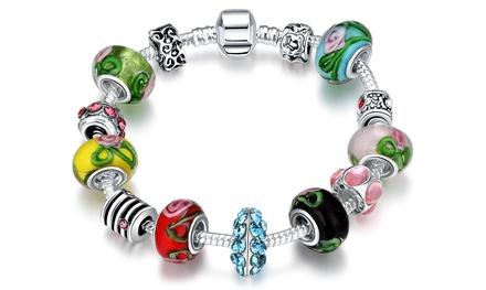 1 ou 2 bracelets Charms plaqués argent et ornés de cristaux de la marque Van Amstel
