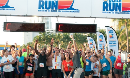 10K or 5K BK Beach Run Registration for One, Two, or Four from Burger King McLamore Foundation (Up to 51% Off)