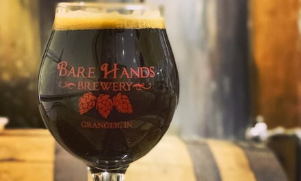 Beer-Tasting Flight, Take-Home Growler, & Pint Glass for One, Two, or Four at Bare Hands Brewery (Up to 42% Off)