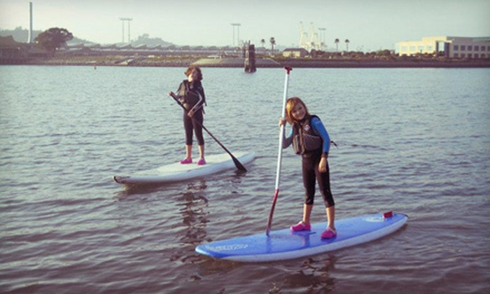 Pure Water Sports - Marina Bay: Paddleboard Lesson and Wetsuit Rental or a Two-Hour Paddleboard Rental at Pure Water Sports in Richmond (Up to 62% Off)