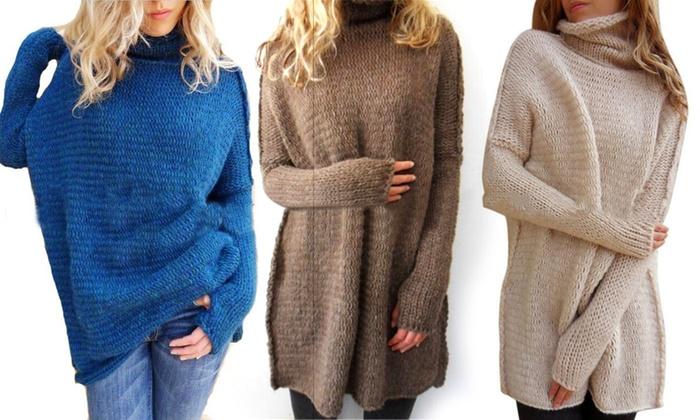 Sonderpreis für bieten eine große Auswahl an kauf verkauf Bis zu 67% Rabatt Oversize-Pullover für Damen | Groupon