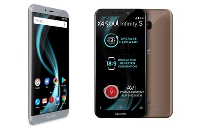 Allview X4 Soul Infinty S 5.7 pouces smartphone LTE avec Android 7.0, 3 Go de RAM, OctaCore etc. en acier gris