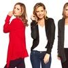 Channel-Knit Open-Front Women's Cardigan