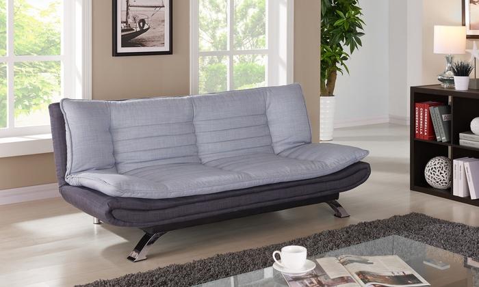 2 sitzer sofa michigan in grau groupon goods. Black Bedroom Furniture Sets. Home Design Ideas