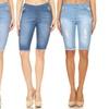 Jvini Women's Pull-On Stretchy Denim Bermuda Shorts (3-Pack)