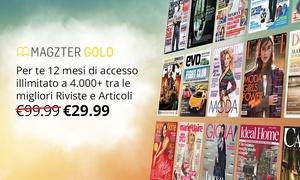 Magzter Inc IT: 12 mesi di abbonamento ad oltre 4000 riviste online sulla piattaforma Magzter (sconto 70%)