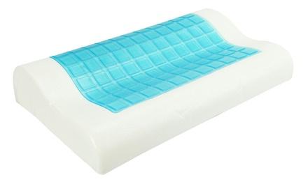 Shopmonk Memory Foam Cooling Gel Contour Pillow