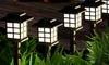 Solar-Powered Garden Light Set