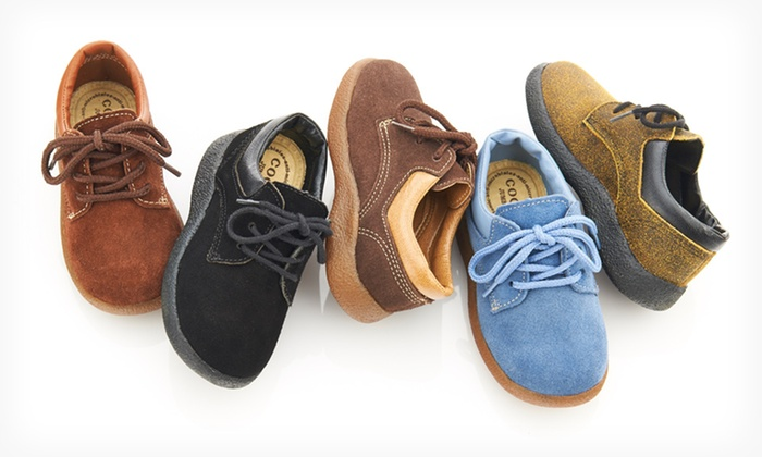 Coco Jumbo Lace-Up Suede Oxfords for Toddlers: Coco Jumbo Lace-Up Suede Oxfords for Toddlers. Multiple Colors Available. Free Shipping.