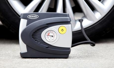 Ring RAC610 Gonfleur/compresseur d'air portable pour voiture,via allume-cigare+câble 3m,rapide et simple d'utilisation