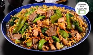 Lig Lig - Campo Belo: Yakisoba - Macarrão Chop-Suey, frango ou carne fatiada para 2 ou 4 pessoas no Lig-Lig - Campo Belo