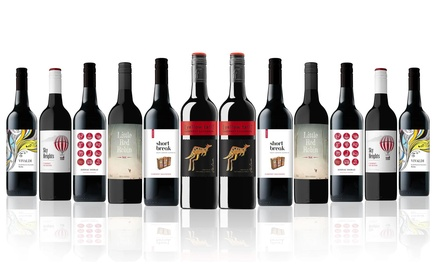 $65 Bottle Case of Mixed Red Wine Incl. Cab Sauv from Top 10 World Brand Yellow Tail Don't Pay $209