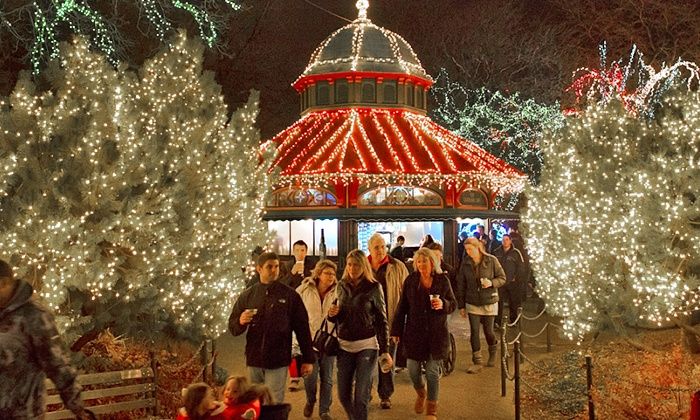 Lincoln Park Zoo - Chicago: ZooLights Finale Package for Couples or Families at Lincoln Park Zoo (Up to 43% Off)