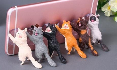 1 o 2 supporti per smartphone con gatti, disponibili in vari modelli