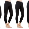Sociology Stretchy Cotton-Blend Leggings (4-Pack) (Size S/M)