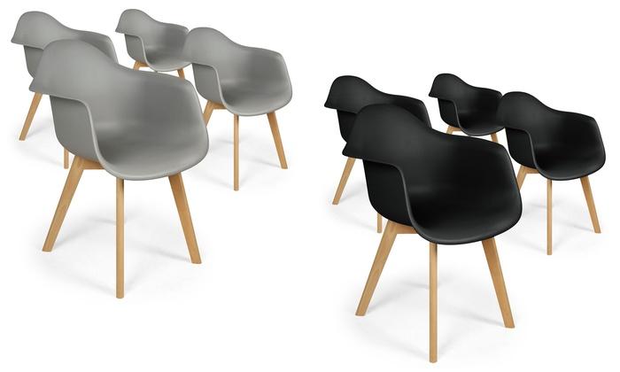 4 chaises scandinaves prado - Chaise Scandinave Design