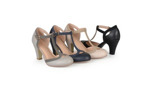 Journee Collection Women's T-Strap Mary Jane Pumps