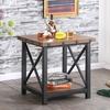 Herzen Vintage-Industrial End Table