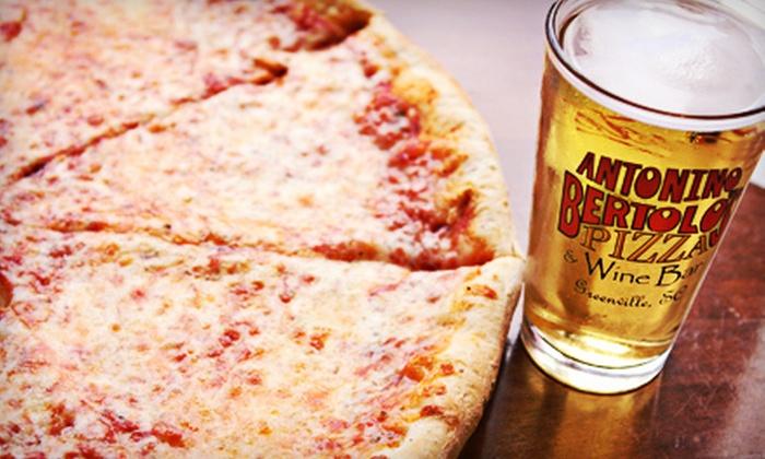 Antonino Bertolo's Pizza & Wine Bar - Greenville: $7 for $15 Worth of Pizza, Pasta, and Calzones at Antonino Bertolo's Pizza & Wine Bar