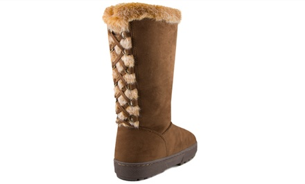 143 Girl Women's Faux-Fur-Trimmed Boots.