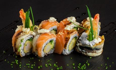 Menú para llevar para 2 o 4 con bandeja de sushi a elegir y refresco o botella de vino desde 19,95 € en Sushi & Wok