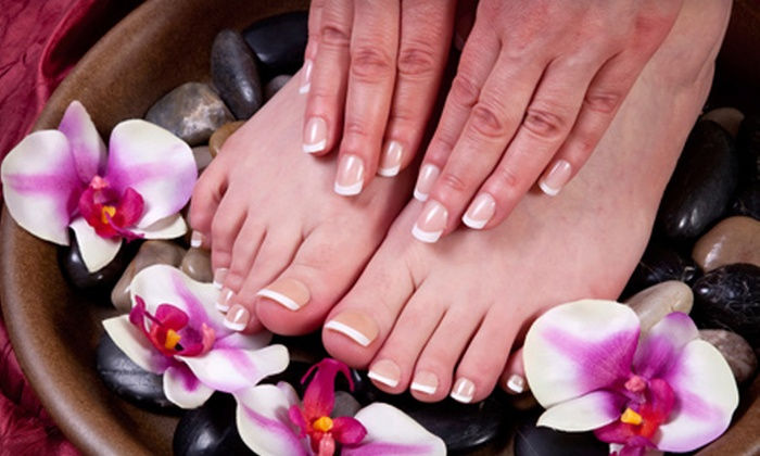 Freestyle Salon - Victoria: Mani-Pedi or Mani-Pedi Package with Foot Therapy at Freestyle Salon & Spa