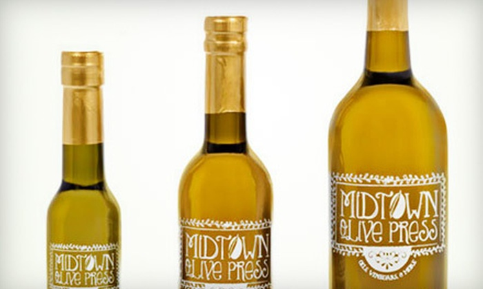 Midtown Olive Press - Green Valley: $9 for $18 Worth of Olive Oils, Balsamic Vinegars, and Gourmet Groceries at Midtown Olive Press in Greensboro